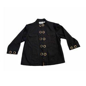 KEREN hart Black Grommet Jacket